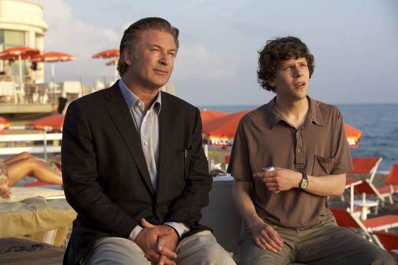"Alec Baldwin, left, and Jesse Eisenberg in ""To Rome with Love."""