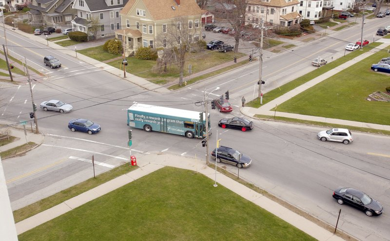 Three proposals to improve the intersection of Brighton Avenue, Deering Avenue and Falmouth Street, near the University of Southern Maine in Portland, will be discussed at a public meeting tonight.