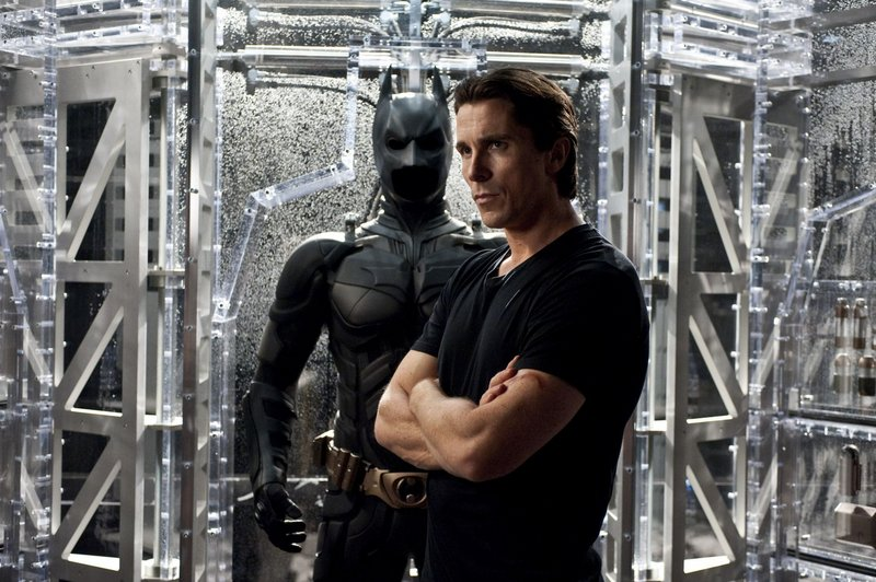 "Christian Bale plays a battered Bruce Wayne, whose fortune has dwindled, in ""The Dark Knight Rises."""