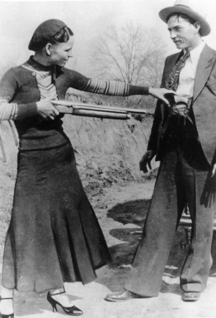 Guns owned by outlaws and lovers Bonnie Parker, left, and Clyde Barrow could sell for up to $200,000 each when auctioned Sept. 30 in New Hampshire.