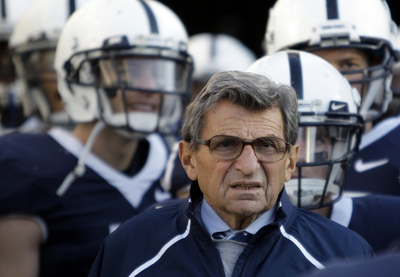 The late Joe Paterno lost his title as the most successful college football coach.