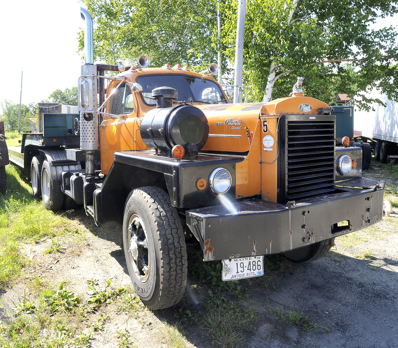 This 1964 Mack tractor is among the 300 trucks collected by Erv Bickford of Yarmouth, who died in May.