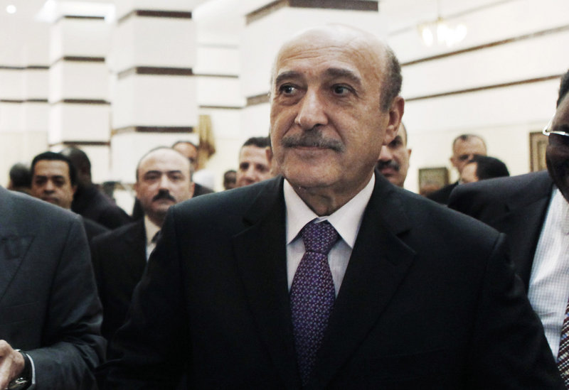 Chief of intelligence Omar Suleiman is seen upon his departure after a short visit to Khartoum, Sudan, in 2009. Egypt's state news agency said the former spy chief and vice president died in a Cleveland hospital early Thursday.