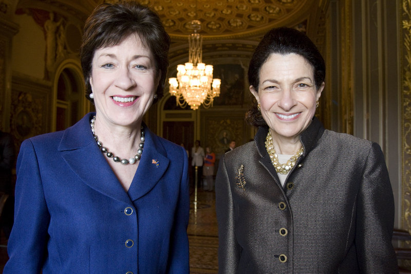 "Maine Sens. Susan Collins, left, and Olympia Snowe voted twice last week to kill a bill that, a Maine Voices writer says, ""would put more information in the hands of voters."""
