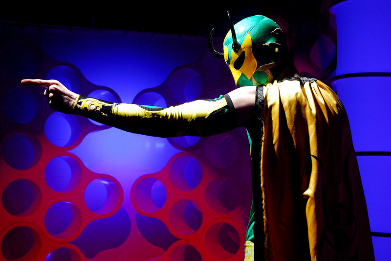 "Green Ant is one of the wrestlers associated with Chikara. ""The Great Escape"" show takes place Saturday at the STRIVE Center on Foden Road in South Portland. Children will be admitted for free with a paying adult."