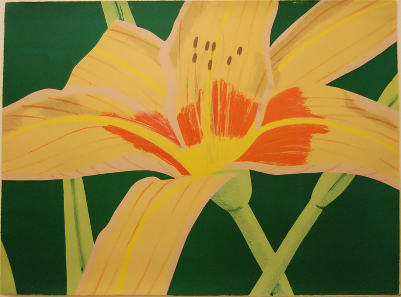 Alex Katz's artwork. A review of his show at Colby College appears on the Audience page.