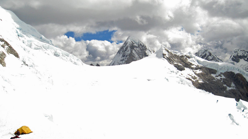 This photo shows Palcaraju mountain near Huaraz, Peru. Gil Weiss, 29, and Ben Horne, 32, fell about 1,000 feet off a ridge after reaching the west summit, searchers said.