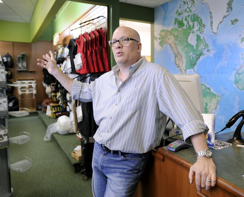"""Sam Hirsh, who, with his wife, Kate, owns TripQuipment, said, """"I don't care if it's a big-box retailer. I want something that brings people to the area."""""""