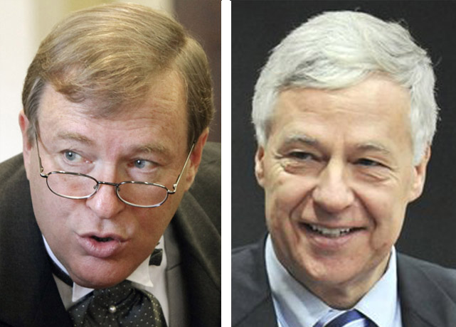 Maine Senate President Kevin Raye, left, and U.S. Rep. Mike Michaud.