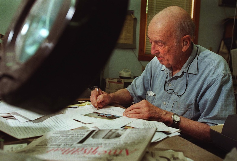 This September 1999 file photo show journalist Harry Foote, publisher of the Westbrook American newspaper, who was inducted into the Maine Journalism Hall of Fame. newspaper Westbrook American John Ewing Harry Foote
