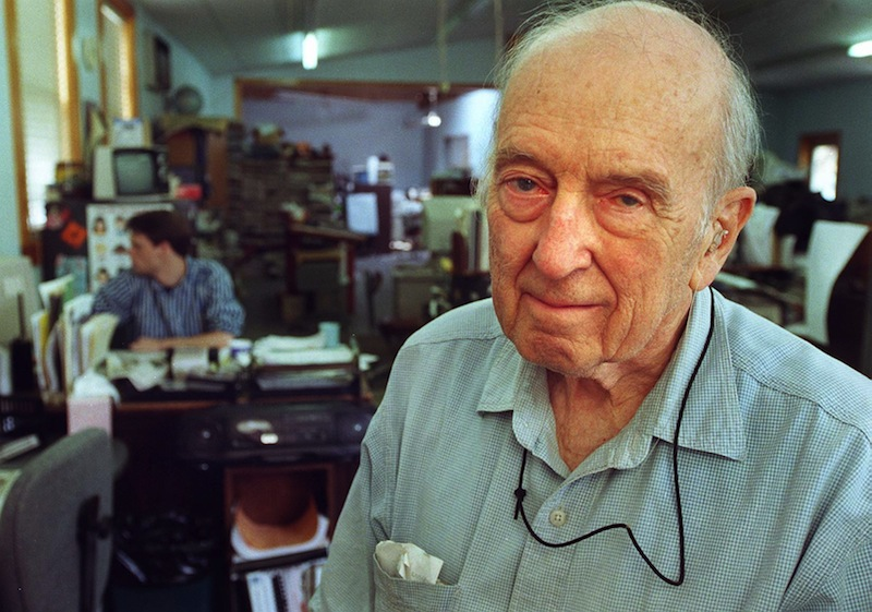 This September 1999 file photo show journalist Harry Foote, publisher of the Westbrook American newspaper, who was inducted into the Maine Journalism Hall of Fame. Harry Foote John Ewing newspaper Westbrook American