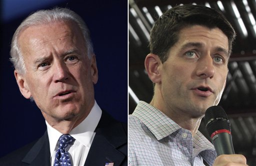 Vice President Joe Biden, left, and Republican vice presidential nominee Paul Ryan.
