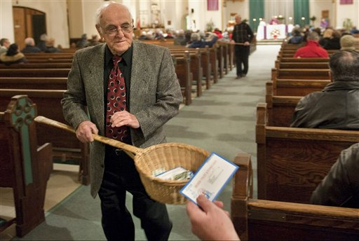 A study on the generosity of Americans, released Monday, Aug. 20, 2012, by the Chronicle of Philanthropy, found that states with populations that are less religious are also the stingiest about giving money to charity. The Associated Press photo