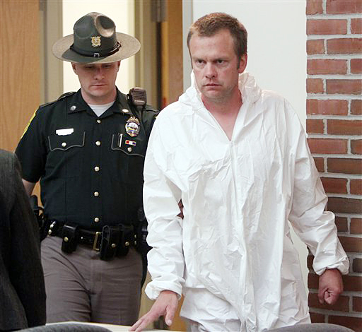 James Perriello arrives at District Court in Newport, N.H., in this April 27, 2012, photo.