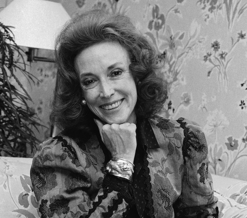 This file photo shows Cosmopolitan editor Helen Gurley Brown is shown during an interview at her office in New York. Brown, longtime editor of Cosmopolitan magazine, died Monday, Aug. 13, 2012 at a hospital in New York after a brief hospitalization. She was 90. (AP Photo/Marty Lederhandler, file)