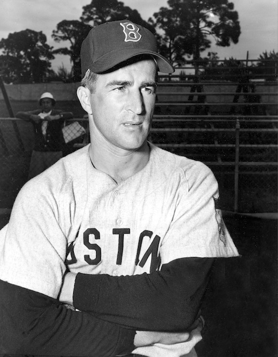 This Feb. 26, 1952, file photo shows Boston Red Sox infielder Johnny Pesky during baseball spring training in Sarasota, Fla. Pesky, who spent most of his 60-plus years in pro baseball with the Red Sox and was beloved by the team's fans, has died on Monday, Aug. 13, 2012, in Danvers, Mass. He was 92. (AP Photo, File)