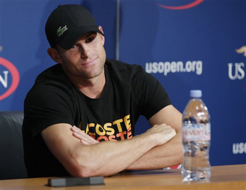 Andy Roddick speaks during a news conference during the second round of play at the 2012 US Open tennis tournament, Thursday, Aug. 30, 2012, in New York. Roddick says the U.S. Open will be the last tournament of his career. The 2003 U.S. Open champion and former No. 1 announced his plans to retire at a news conference Thursday, his 30th birthday. (AP Photo/Frank Franklin II) 2012 US Open Tennis