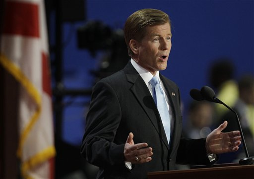 Virginia Governor Bob McDonnell addresses delegates during the Republican National Convention in Tampa, Fla., on Tuesday, Aug. 28, 2012. (AP Photo/Charlie Neibergall)