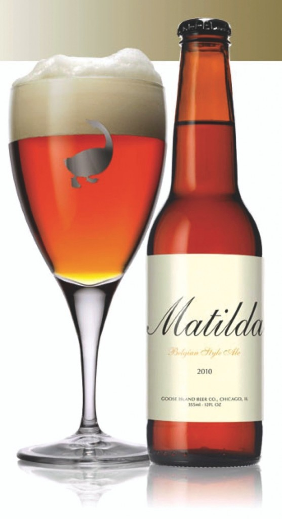 Goose Island's Matilda is a highly complex beer, somewhat reminiscent of a Oude Geuze style of lambic.