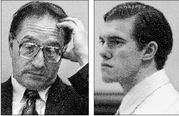 Daniel Horowitz, left, a California defense attorney whose wife was killed by Scott Dyleski, then 16, right, in 2005, opposes releasing Dyleski and most of the thousands of other juveniles convicted of murder who were sentenced to life without parole. But Horowitz says Sara Kruzan may warrant an exception because of her life story, which includes sexual abuse at a young age.