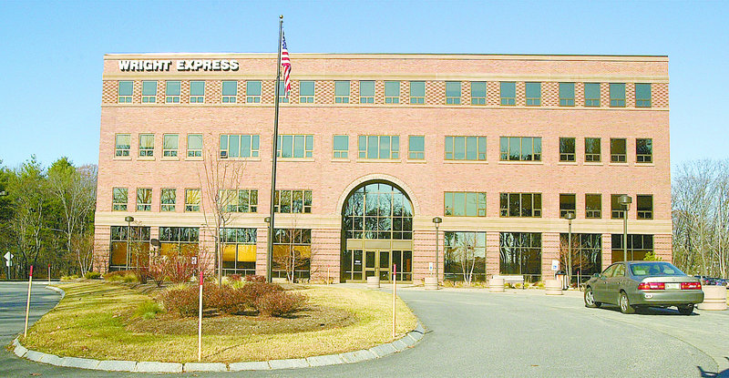 In this 2004 file photo, a Wright Express building in South Portland. The Maine credit-card processing company has bought a Brazilian payroll-card company for $21.9 million.