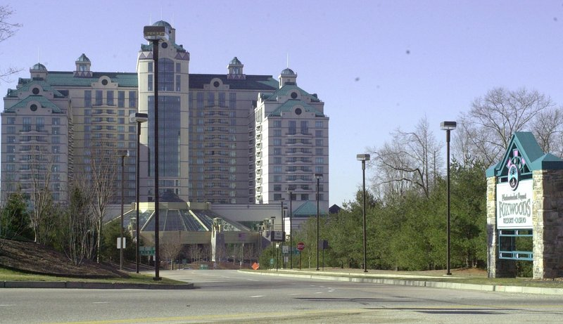 The entrance to Foxwoods Resorts and Casino in Ledyard, Conn.