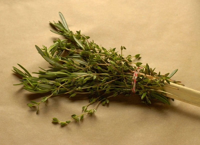 Use an herb bundle to baste steaks or chicken on the grill.