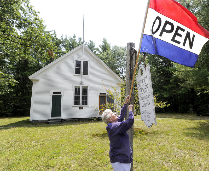 Hope Shelley cares for the only remaining one-room schoolhouse in the town of Wells. The school, which was built about 1900, is open two months a year as a living history museum.