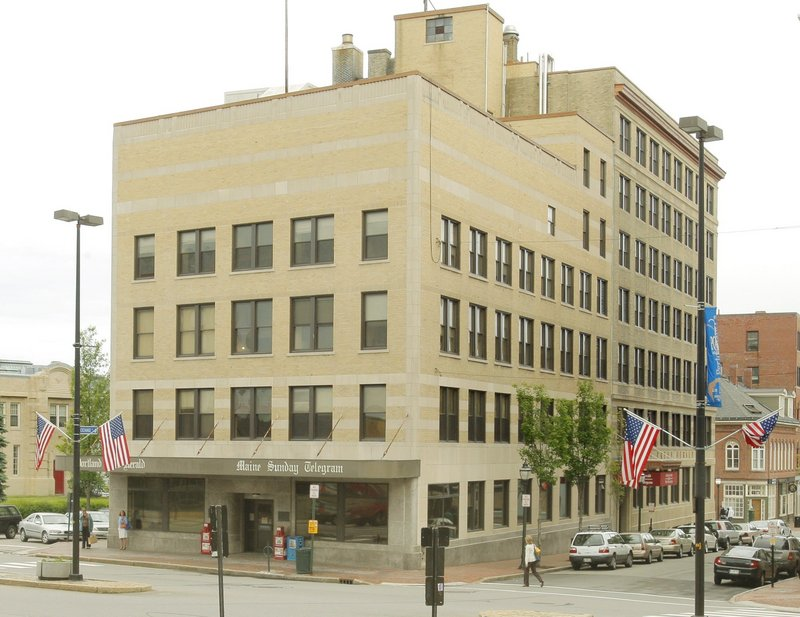The Portland Press Herald building at 390 Congress St. is shown in 2009, about a year before the newspaper moved to One City Center. If it is converted to a hotel, the exterior would be left largely alone to conform with city historic district rules.