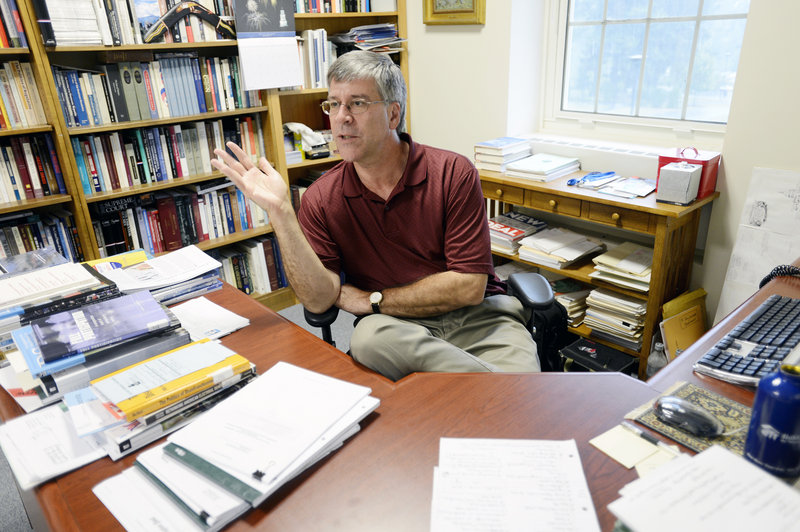 Anthony Corrado, a professor at Colby College in Waterville, is researching the cash that is pouring into American politics. It's increasingly difficult to find out where the money comes from.