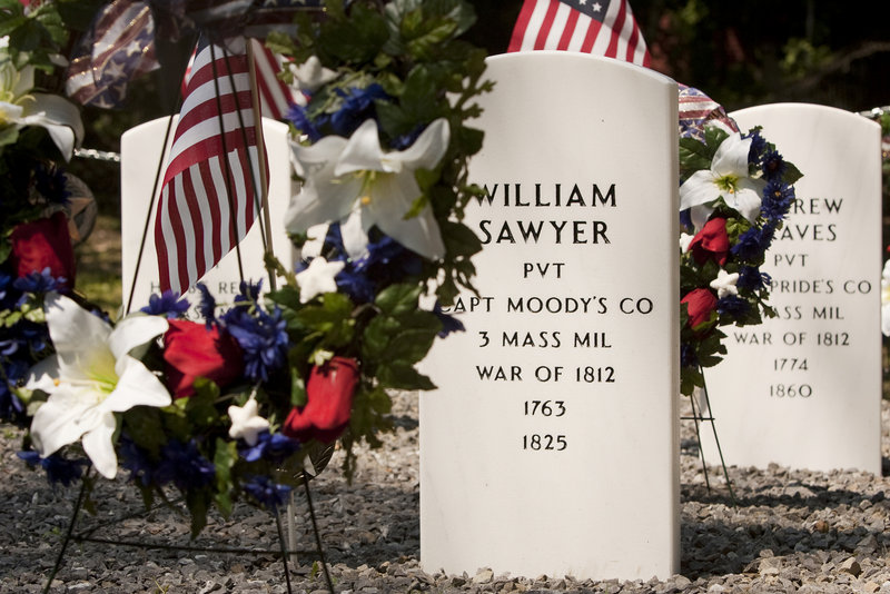 New stones mark the graves of six veterans, who died nearly 200 years ago, in the restored Grand Trunk Cemetery in Portland, thanks to a two-year project by two Girl Scouts.