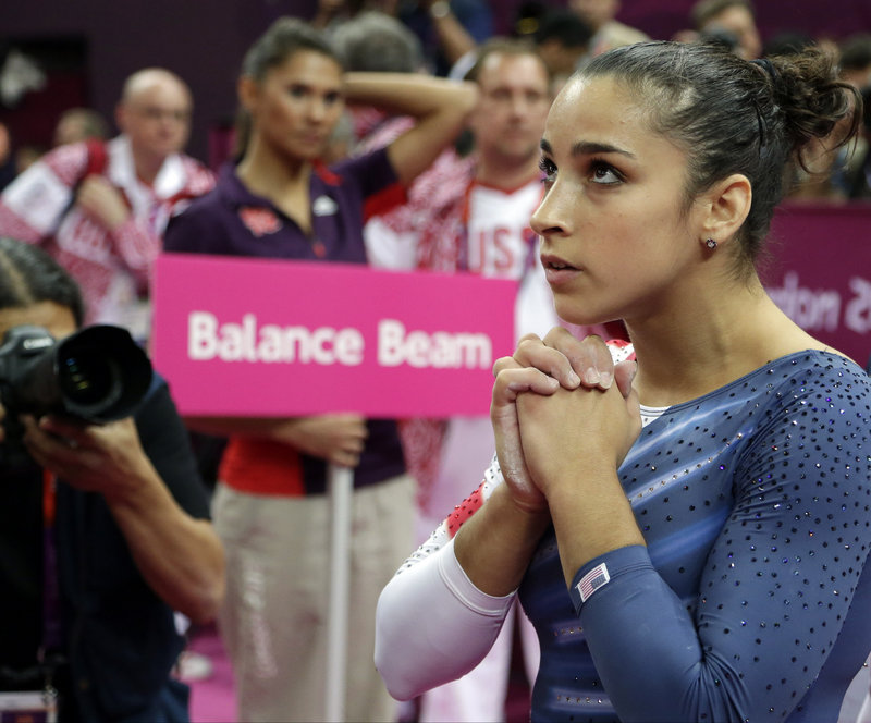 Aly Raisman watched the scores, finishing third in balance beam, but floor exercise was no contest Tuesday. Her performance was a stunner.