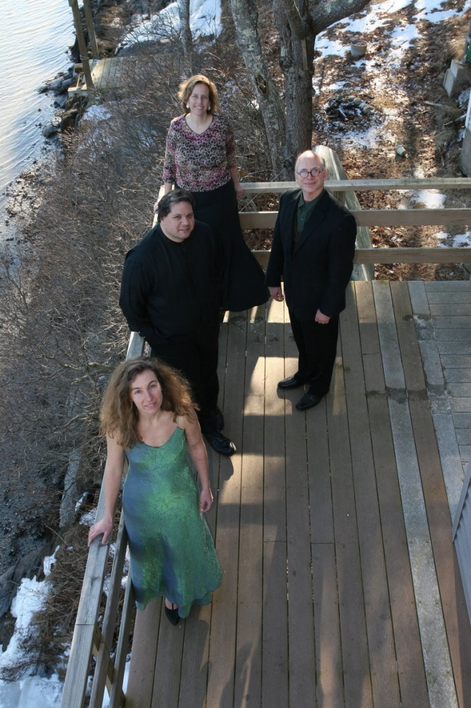 The DaPonte String Quartet, from front, Lydia Forbes, Dino Liva, Myles Jordan and Kirsten Monke.