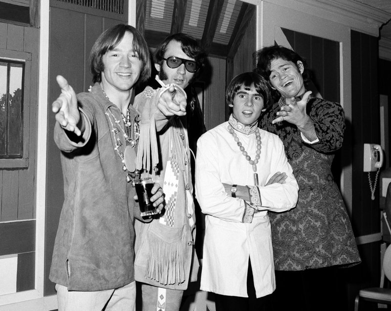 The surviving Monkees are planning a U.S. tour. Davy Jones, second from right, died in February, leaving, from left, Peter Tork, Mike Nesmith and Micky Dolenz.
