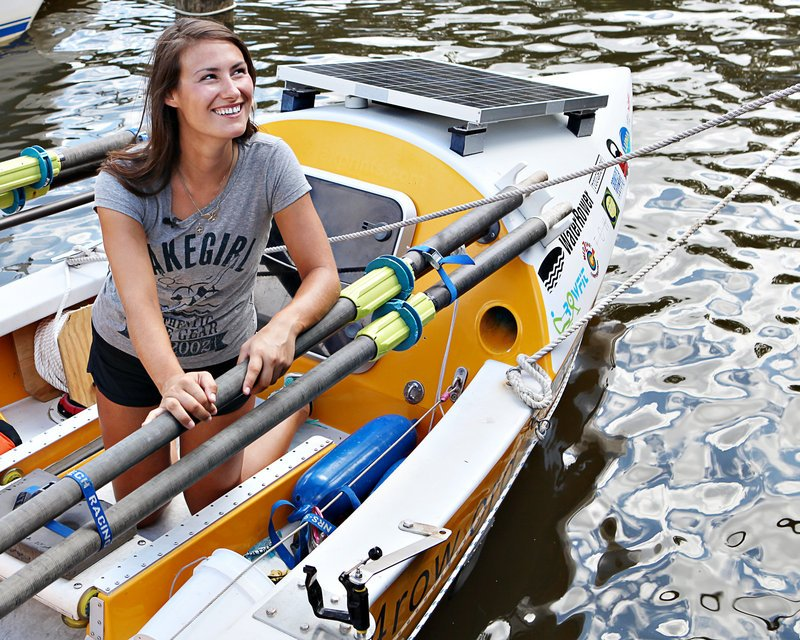 Gibbons, 27, chose the name Recovery on Water, or ROW, when she co-founded the team five years ago. She credits team members for providing inspiration.