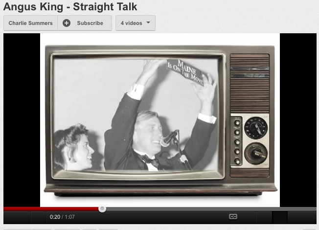 This screen shot shows a political ad by the Charlie Summers campaign on the subject of negative advertising. This ad is directed at Angus King. Summers and King are running for the U.S. Senate. Advertising can be effective with voters who haven't made up their minds.