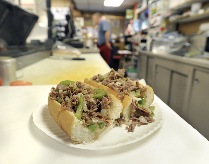 Mellen Street Market's steak and cheese sub.
