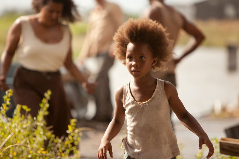 "Quvenzhane Wallis as Hushpuppy in ""Beasts of the Southern Wild."""