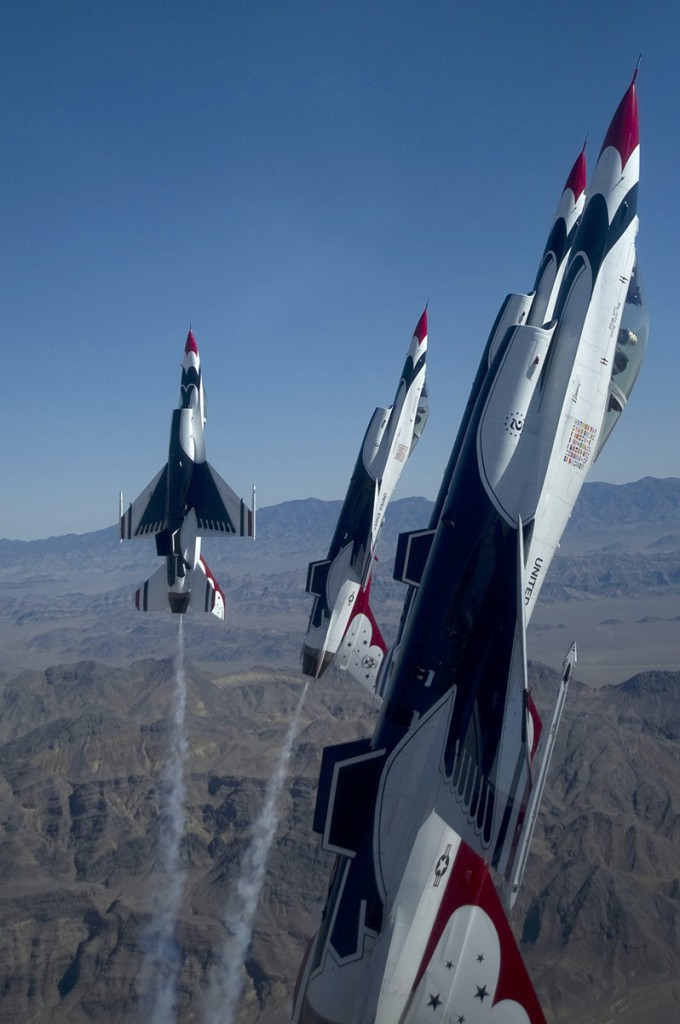 The Thunderbirds in action