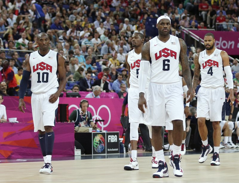LeBron James, center, and Kobe Bryant, left, will lead the United States into the final Sunday against Spain, and into its own place in the which-is-the-best-team discussion.