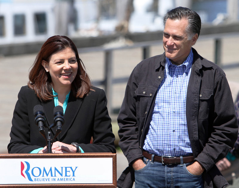 N.H. Sen. Kelly Ayotte with Mitt Romney
