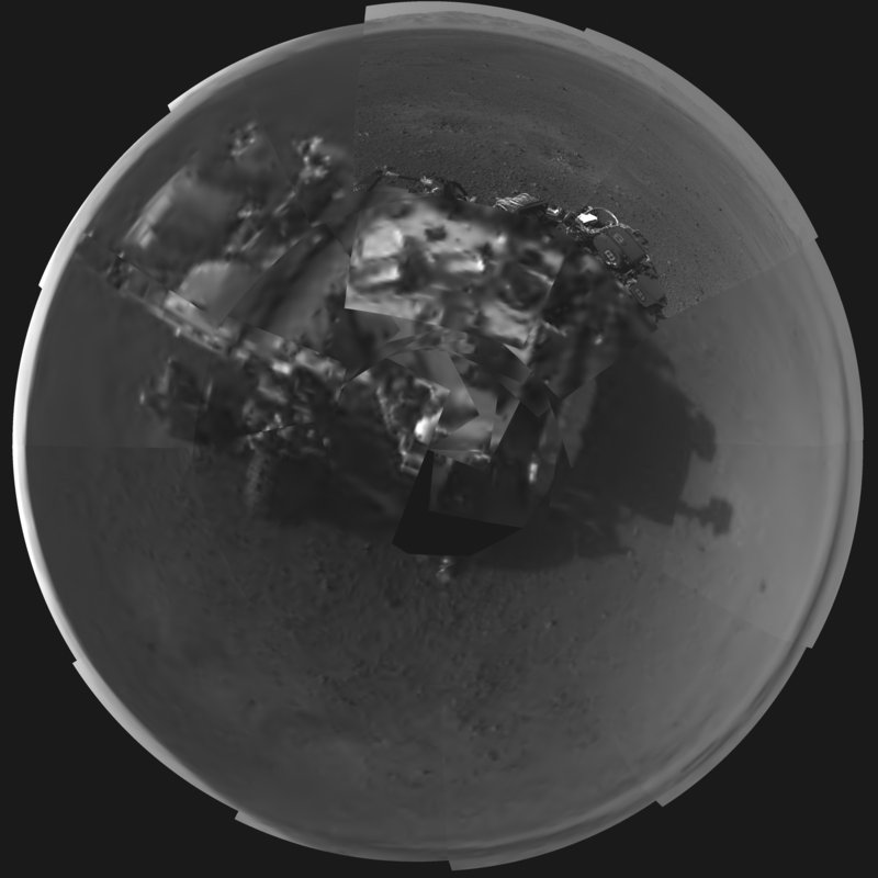 An image released by NASA shows a self-portrait of the Curiosity rover taken by its navigation cameras.