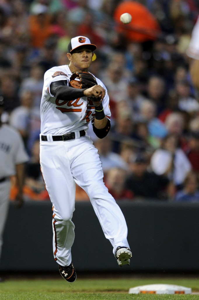 Manny Machado, the highly touted rookie for Baltimore, was held hitless for the first time in five games, but did make several nice plays at third.
