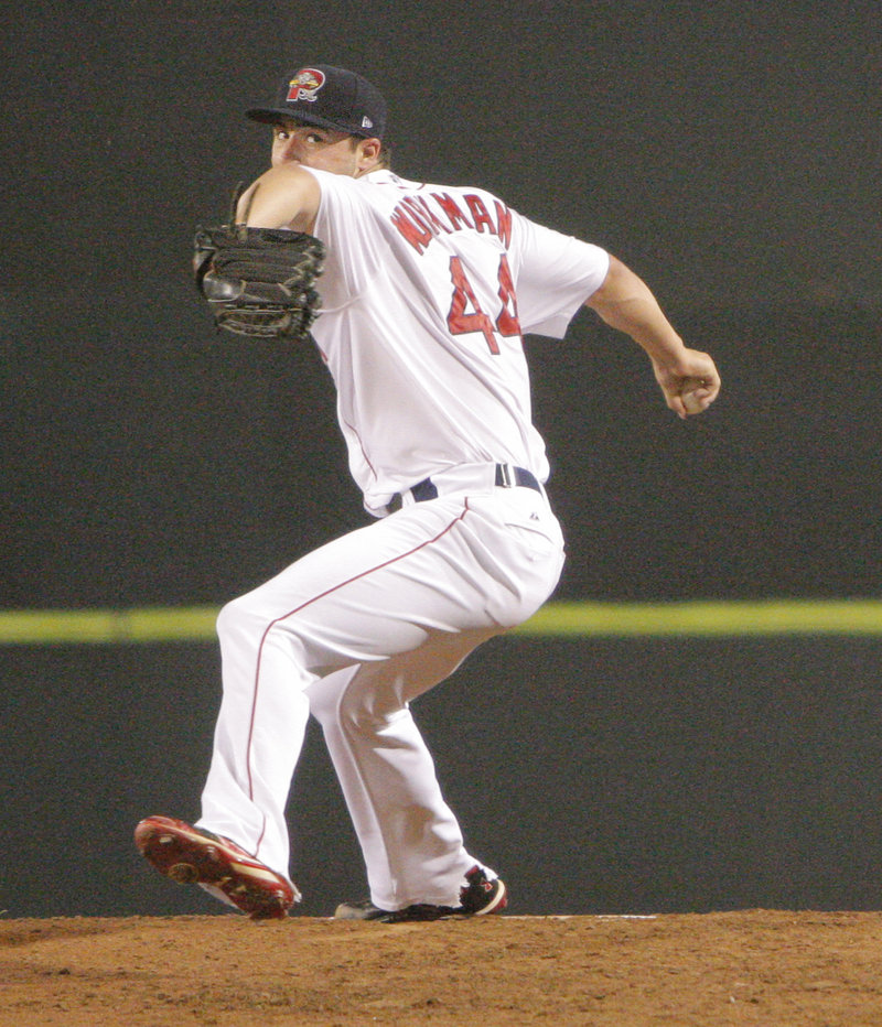 Brandon Workman had it all going Tuesday night in his Double-A debut with the Portland Sea Dogs. He pitched six innings, allowing only two ground singles. Not only did he avoid giving up any walks, he never got to a three-ball count.