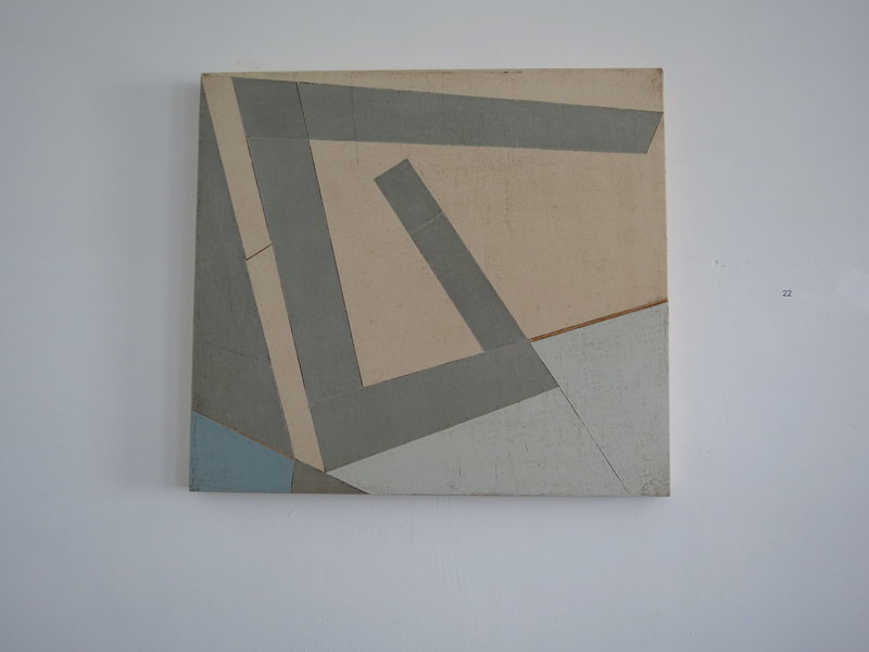 """Pliers,"" top, by Duane Paluska, acrylic, canvas and wood."