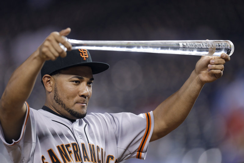 Melky Cabrera of the San Francisco Giants apologized in a statement Wednesday after receiving a 50-game suspension following a positive drug test for testosterone.