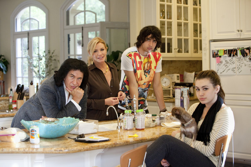 From left, Gene Simmons, Shannon Tweed, Nick Simmons and Sophie Simmons.