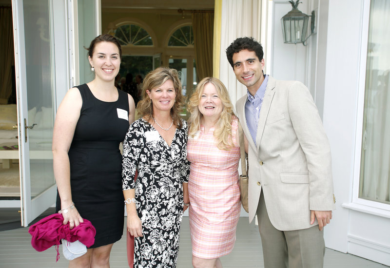 Board member Christine Atwood, Monica Buckley, board President Susan Barnicle and Joseph Morrissey, Portland Ballet CORPS director. Supporters gathered for a seaside fundraiser for the ballet on Thursday.