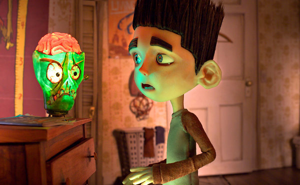 "Norman, voiced by Kodi-Smit-McPhee, is an extraordinary boy with a mission to fulfill in ""ParaNorman."""