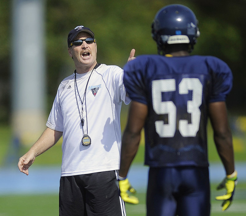 Paul Ferraro is not only back at UMaine after 23 years winding through big-name colleges and the NFL, but is simplifying a defense that helped the Black Bears advance to the NCAA playoffs last season.